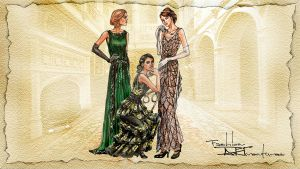 The Crawley Sisters, Downton Abbey by FashionARTventures