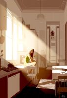 Sunshine, bread, and Nutella. by PascalCampion