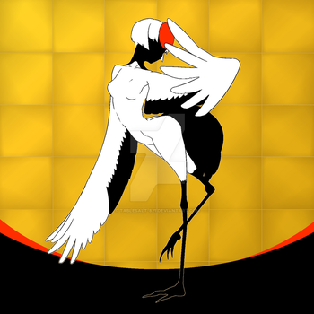 Red-crowned crane by tablesalt-821