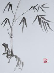 Sumi-e Bamboo by xtolord