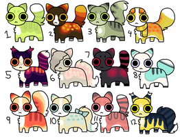 Cat Adoptables - OPEN by catpaths