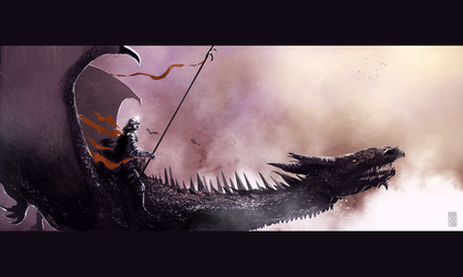 sketch: Dragon rider by woutart