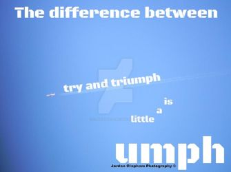 The difference between try and triumph by Clapham1994