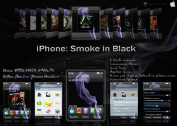 Iphone: Smoke in Black by FlamEmo