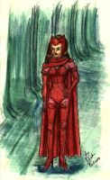 Scarlet Witch traditional by DarkFalcon-Z