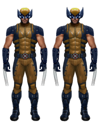 The Wolverine in suit - transparent - (UPDATED) by SonicUnderground316