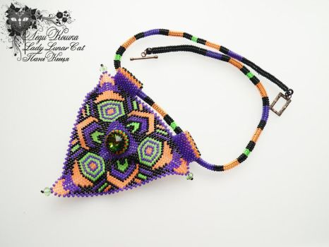 Beaded necklace Utopia by LadyLunarCat