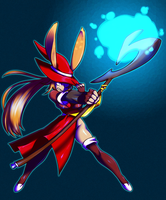 Zecj the Red Mage Viera by Ktullanyx