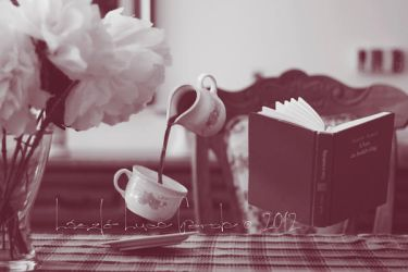 a good book and coffee can make the world go round by Bucikah