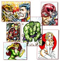 Marvel Sketch Cards by siebo7
