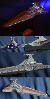 Revell Venator class Star Destroyer with lighting. by PrototypeSpaceMonkey