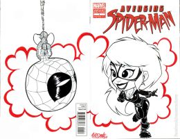 Spidey and Black cat Blank cover by renecordova