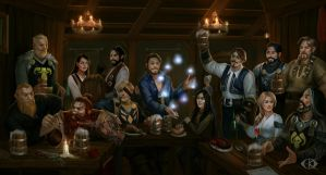 In the Tavern by IcedWingsArt
