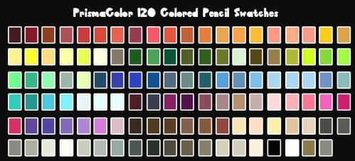 PrismaColor Color Swatches by Drodengera