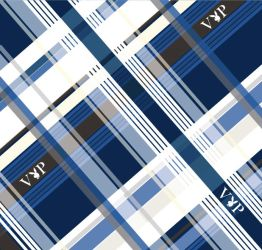 Blue Plaid Pattern by GraceHahn