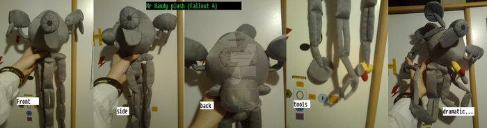 Fallout 4 Mr Handy Plush by Kuromizuri2