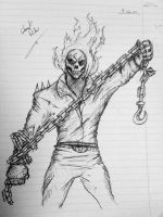 Ghost Rider with chain by itamar050