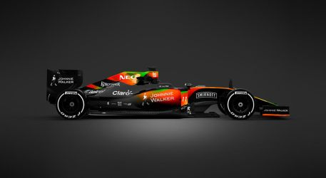 2017 Sahara Force India F1 Side by andwerndesign