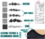 FABRIC/CLOTHING TEXTURES [PAINT TOOL SAI]! by singelle