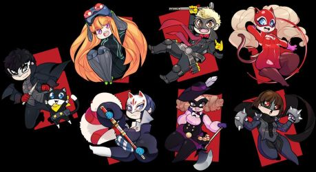 Persona 5 - Stickers! by Saane