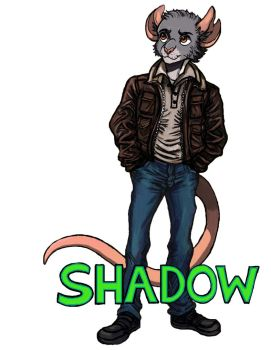 Shadow - Full Body Badge by TheLivingShadow