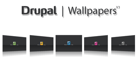Drupal Wallpapers R3, Dakku by njt1982