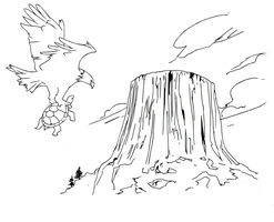 Devil's tower drawing (line art) by electronicdave