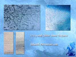Icy and Glitter Snow Textures by Selianth