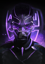 AUBAMEYANG AS BLACK PANTHER by iMizuri