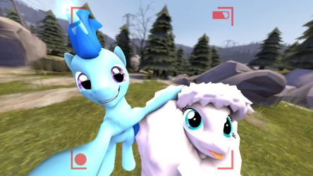 Selfie with fluffle Puff (with hud and full) by DeployerfullGeek
