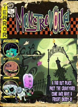 MONSTROVILLE COMIC COVER by VonKreep1313
