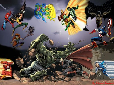 DC vs. Marvel by Marcus2008