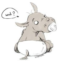 Baby Rhino by kidbrainer
