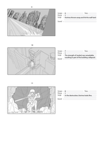 Fight Scene Storyboard Page #3 for Animation by TheGrigoriAnime