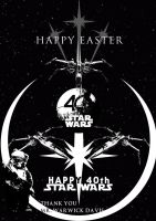 Happy Easter and Star Wars 40th by JMK-Prime