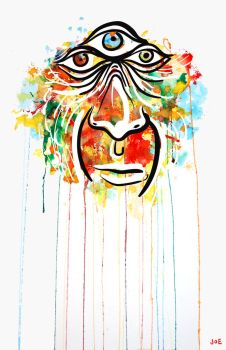 Rainbow Face by JoeAngelillo