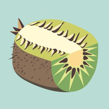 Kiwi fruit illustration by LIVEyourDR3AM