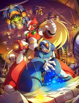 MEGAMAN TRIBUTE - First Stage by jesonite