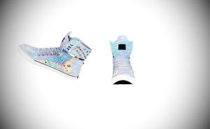 MMD Holographic high tops by amiamy111
