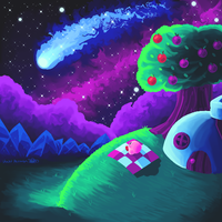 Kirby's Falling Star by ShadedPenumbra