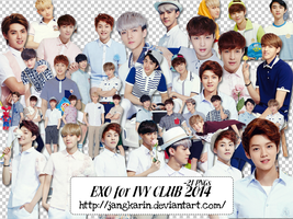 [Render Pack] EXO for IVY Club 2014- 21 PNGs by jangkarin