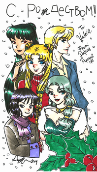 Happy holidays with the outer senshi by readyplayerzero
