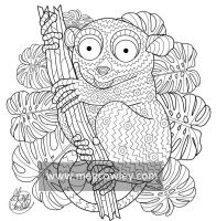 Tarsier (The Exotic Colouring Book) by megcowley