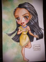 pocahontas chibi by DragonSlayerDraw