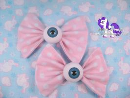 Polka Dot Eyeball Bows by RarasJewels