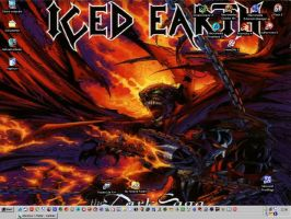 ICED EARTH BACKGROUND by darkness-angel