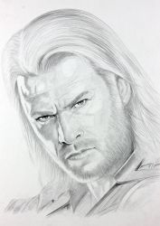 Thor: time lapse of drawing on you tube link below by JPfx