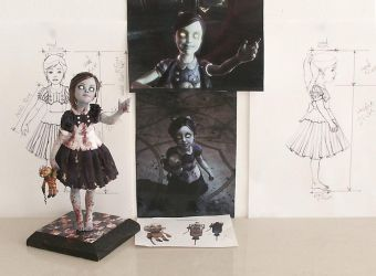 Little Sister Bioshock Sculpture Reference Shots by fairytasia