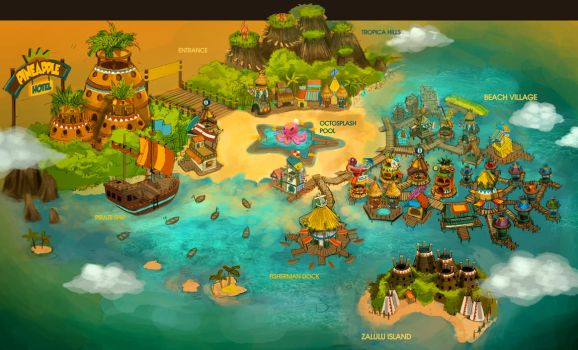 Beach Island Map by anacathie