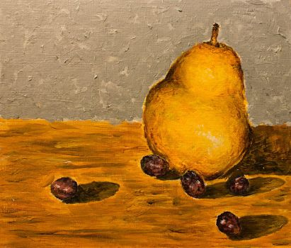 Pear and Grapes Still Life by marta314